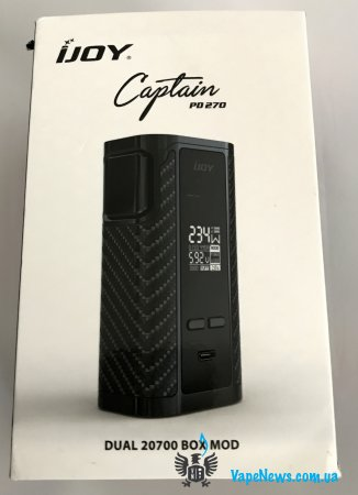 Обзор iJoy Сaptain PD270 Box Mod