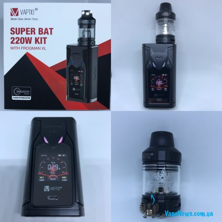 Обзор Vaptio Super Bat 220w Kit with Frogman XL