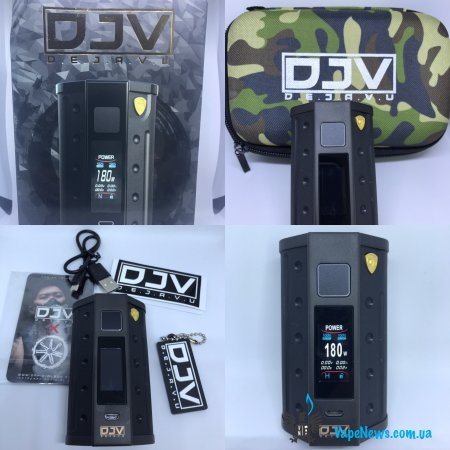 Обзор DEJAVU DJV D7 180W Touch Screen TC Box MOD